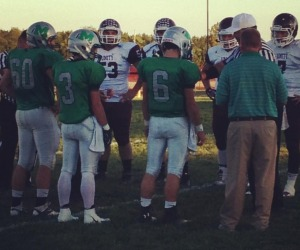 Jacob Lindsay, Cole Trimble, and Matt Trimble await what they thought was their last coin flip of their high school careers, but little did they know they were nominated to play in the 2014 Eastern All Star game on June 28, 2014.