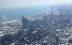 Looking over the Windy City on the Skydeck.