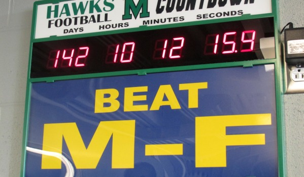 The countdown to the first game against rivals Maroa-Forsyth.
