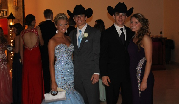 Matt and Cole Trimble and their dates