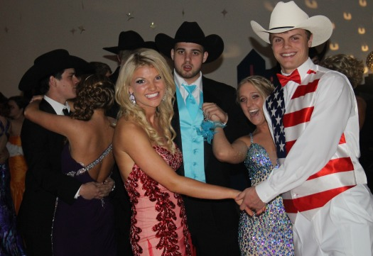 Wade Beasley and his date, Jacob Lindsay and his date