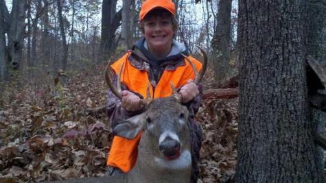 Koby Hedges doing one of his favorite activities, deer hunting. Although this picture is several years old, Hedges still enjoys this activity.