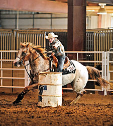 You can take the girl out of the rodeo, but you can't take the rodeo out of the girl