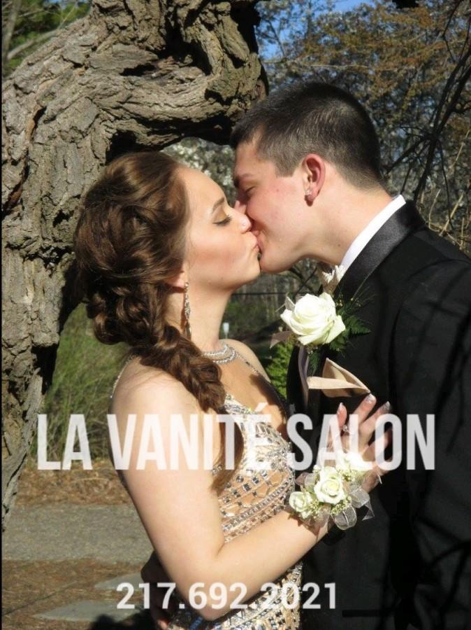 Hair and makeup done locally.  La Vanite Salon is ready to serve all your hair and make-up needs, including prom preparations. Make an appointment with their staff today to get the look you want for the big day, April 30.