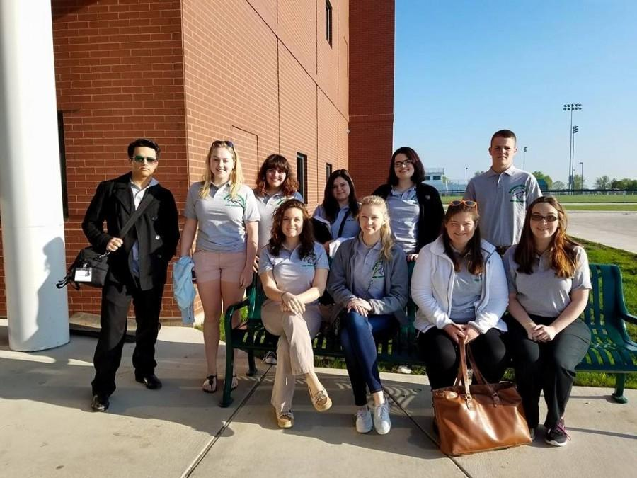 Let's write! Meridian High School Journalism students are ready to head to the IHSA Journalism Sectionals. The day was full of new learning experiences and friendly competition.