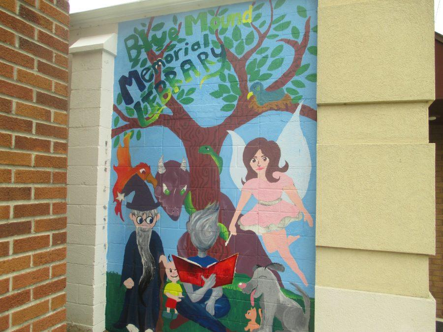 Hard work. The Doering sisters' mural is almost complete. The girls have worked more than 31 hours on this project.