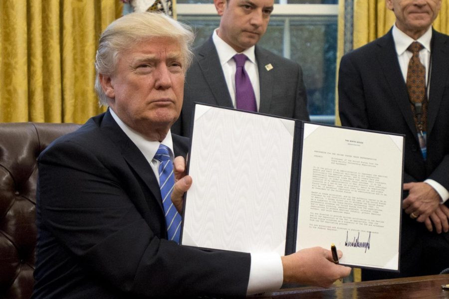 Its official. President Trump shows the executive order on January 27. This order has already affected the U.S. Overall, I think the Muslim ban was very unnecessary and sending a message of hate to other countries, says Brittany Miller.