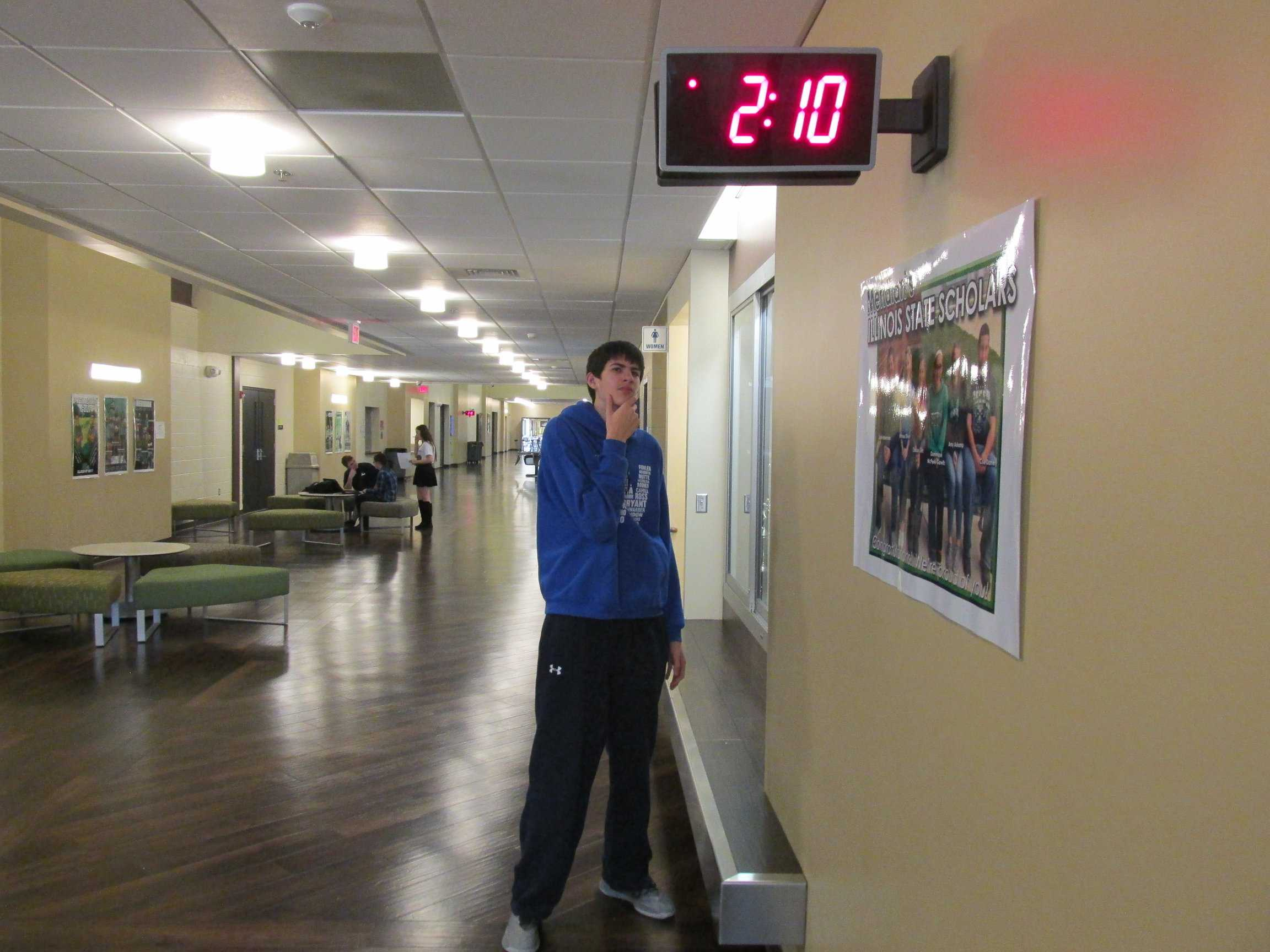 Time flies, daylight savings time may throw off students' schedules. Sophomore Matthew Maxwell said,