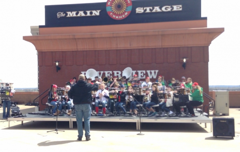 Meridian Middle School preforms at Busch Stadium