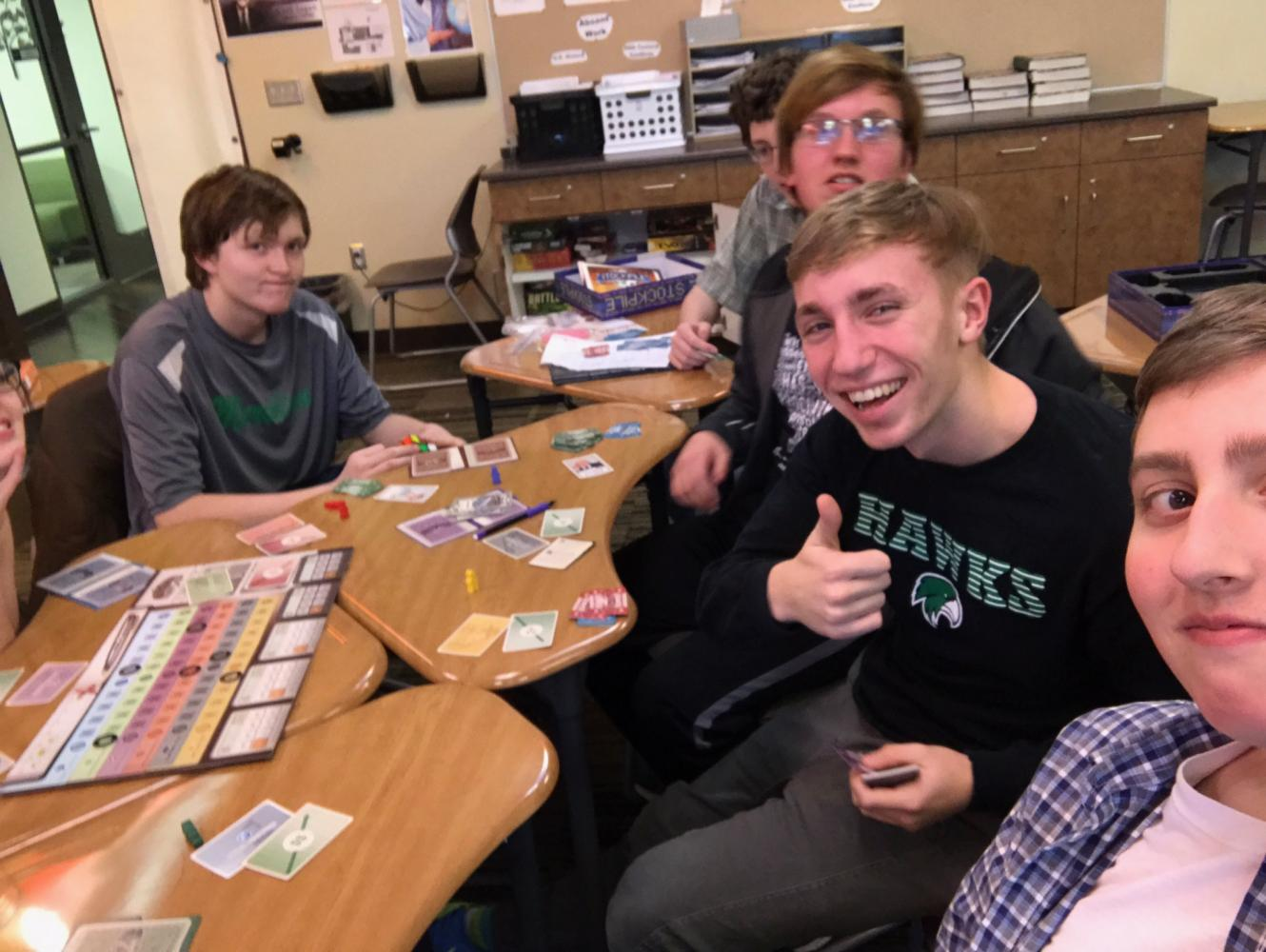 Yahtzee! Playing board games helps students have fun and make friends.
