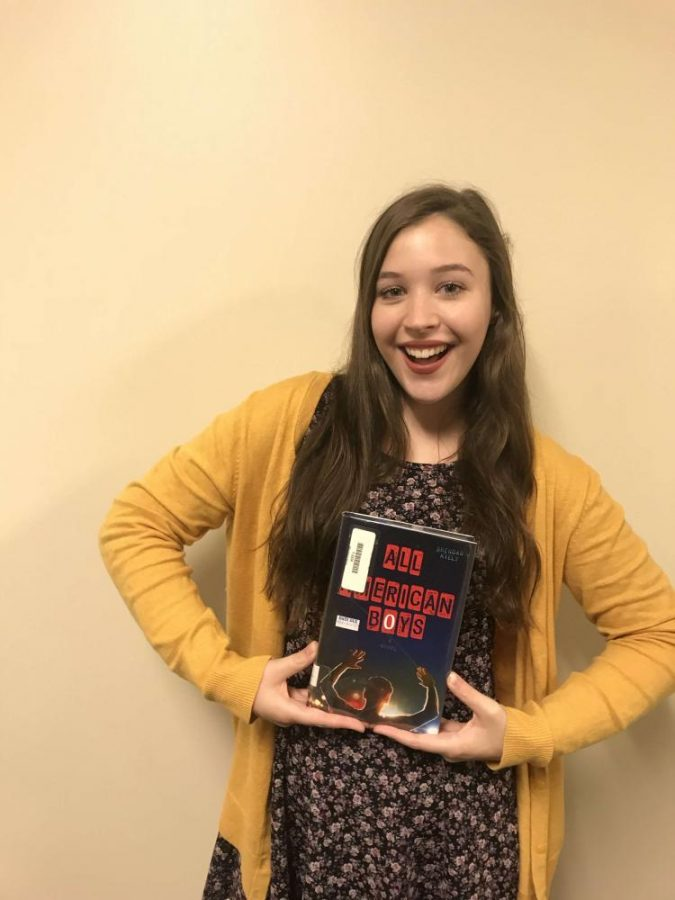 All American Book. As she holds the Lincoln Award book, All American Boys, Sadie Scott can't help but smile knowing how good it will be from all the hype.