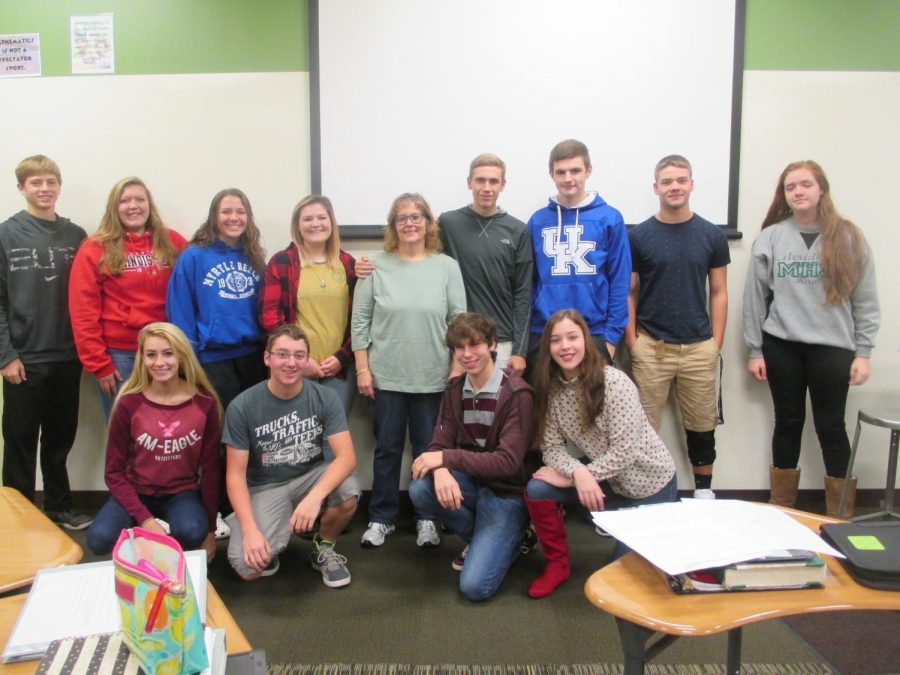 On+Ms.+Brown%27s+last+day%2C+her+first+hour+trigonometry+class+presented+her+with+a+poster+and+took+a+class+photo.+Even+though+Ms.+Brown+is+no+longer+teaching+them%2C+many+will+remember+the+memories+they+had+with+her.