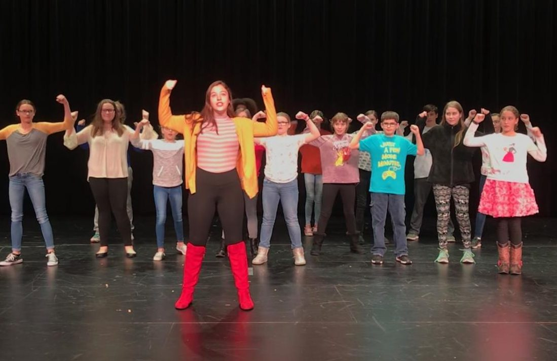 Hakuna Matata! The Lion King kids learn the dance they performed at the end of their audition. Those auditioning needed to show range vocally, emotionally, and physically.