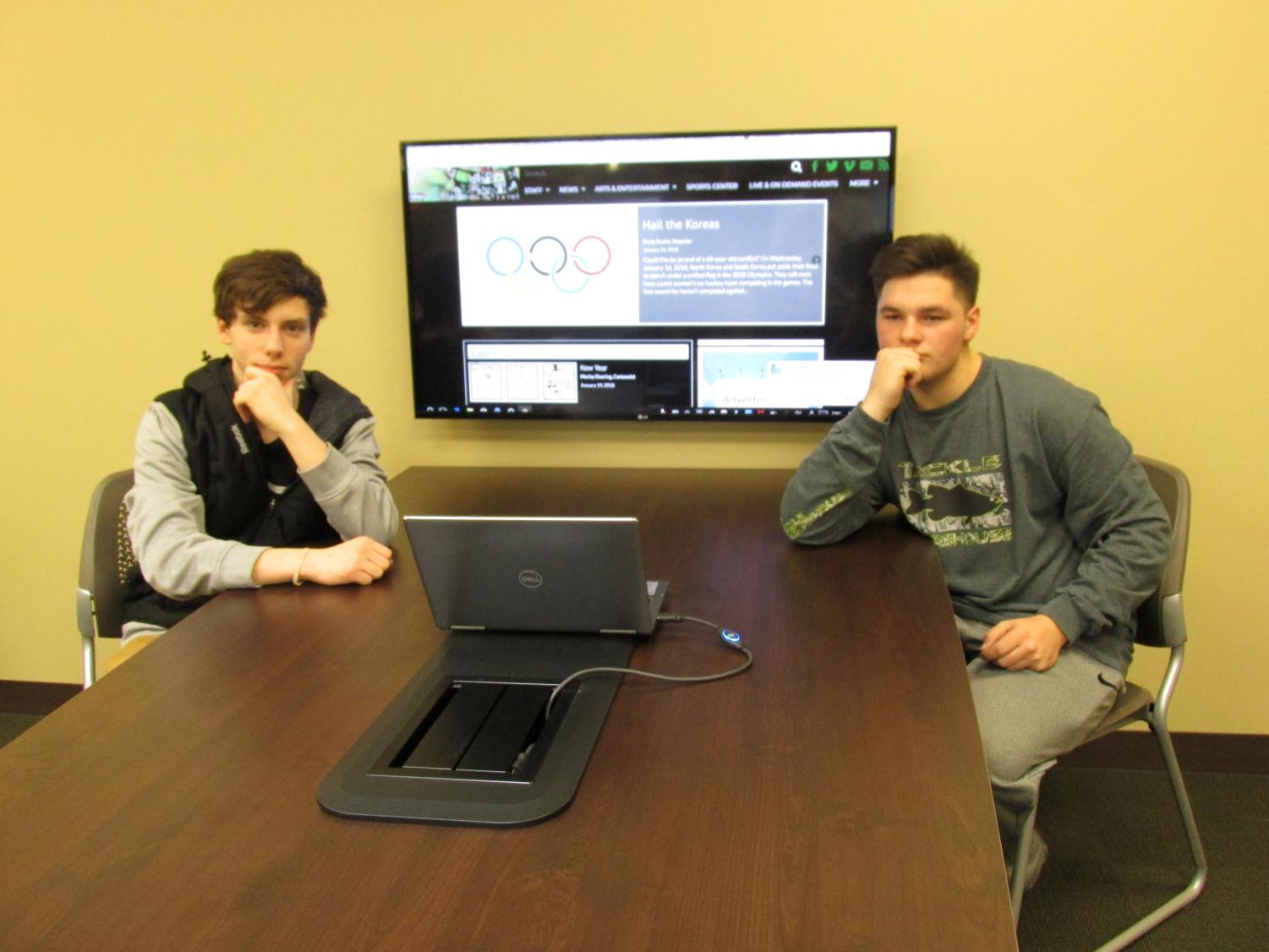 We're Live! Meridian Hawks journalism class will have their first live news show on February 2, airing at 2:05 pm.  Drew Snow and Spencer Litteral, who've previously been accustomed to pre-filming the show, will make this important transition--without the benefit of multiple takes.