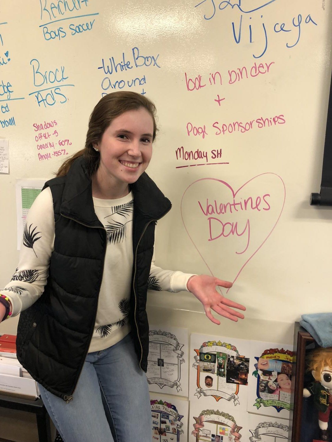 For the love of cupid! After explaining the many Pagan rituals to junior Emma Jackson she said,