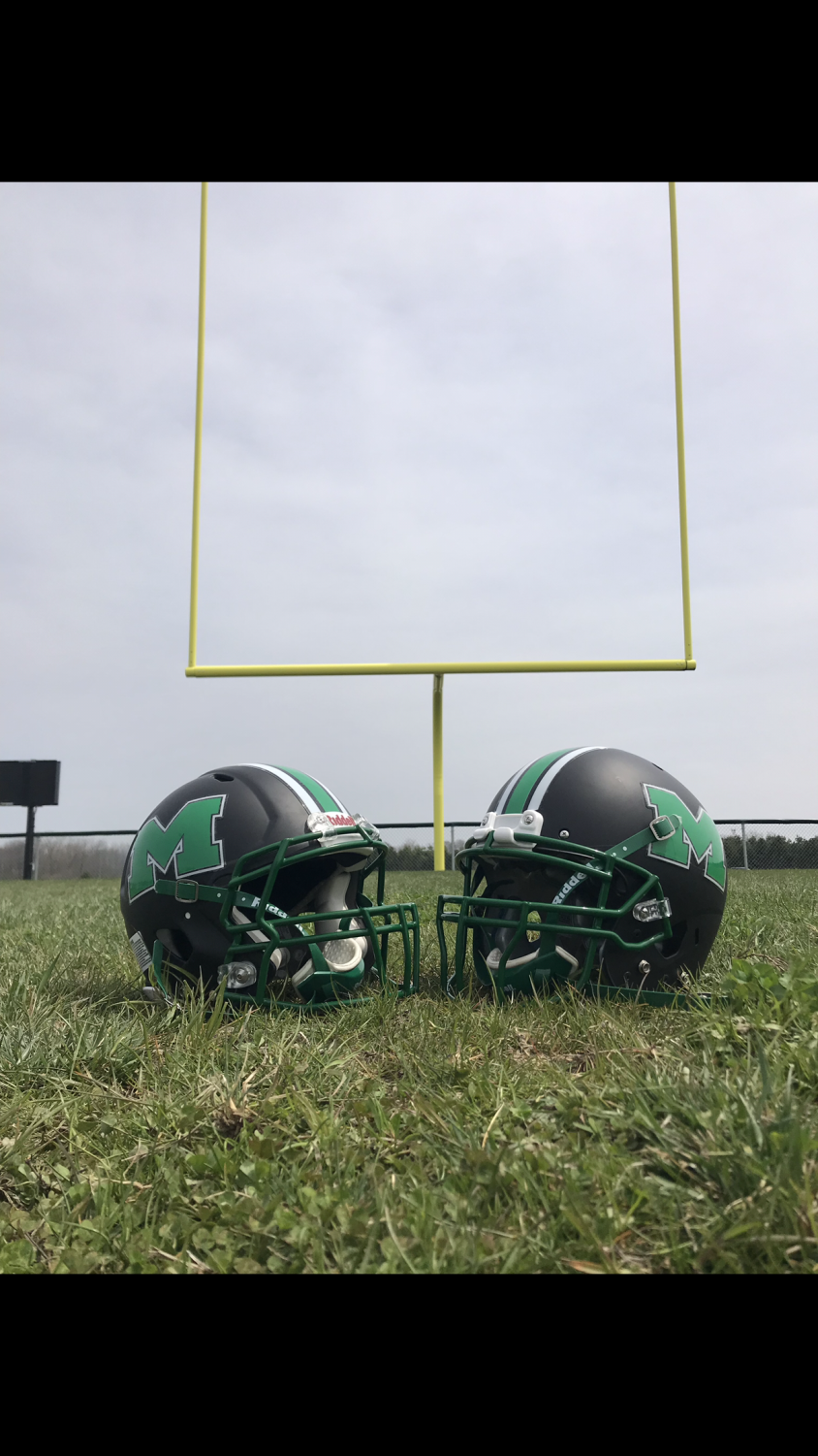 With the upcoming season, the Meridian Hawks football team will take on a new look. The helmets have been repainted and also new jerseys have been ordered. Garrett Meisenhelter said,