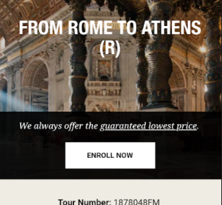 Rome to Athens