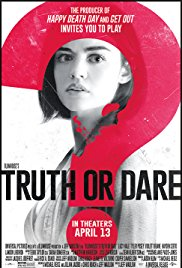 Truth or Dare? The new movie Truth or Dare came out on April 13, 2018. The movie follows a group of friends trapped in a life or death game of truth or dare.