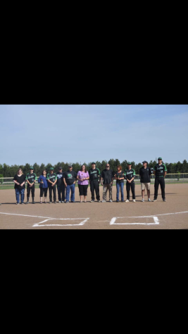 Meridian boys baseball senior night
