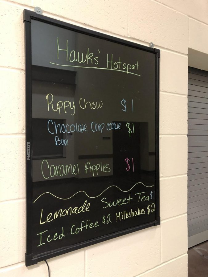 The+Hotspot+features+a+robust+menu.+%22I+love+no-bake+cookies%2C%22+said+Morgan+Bork.+Students+in+Hotspot+work+in+7th+hour+to+prepare+the+food+that+goes+on+their+menu.+The+Hotspot+crew+stays+after+school+to+put+in+extra+time+if+needed.+