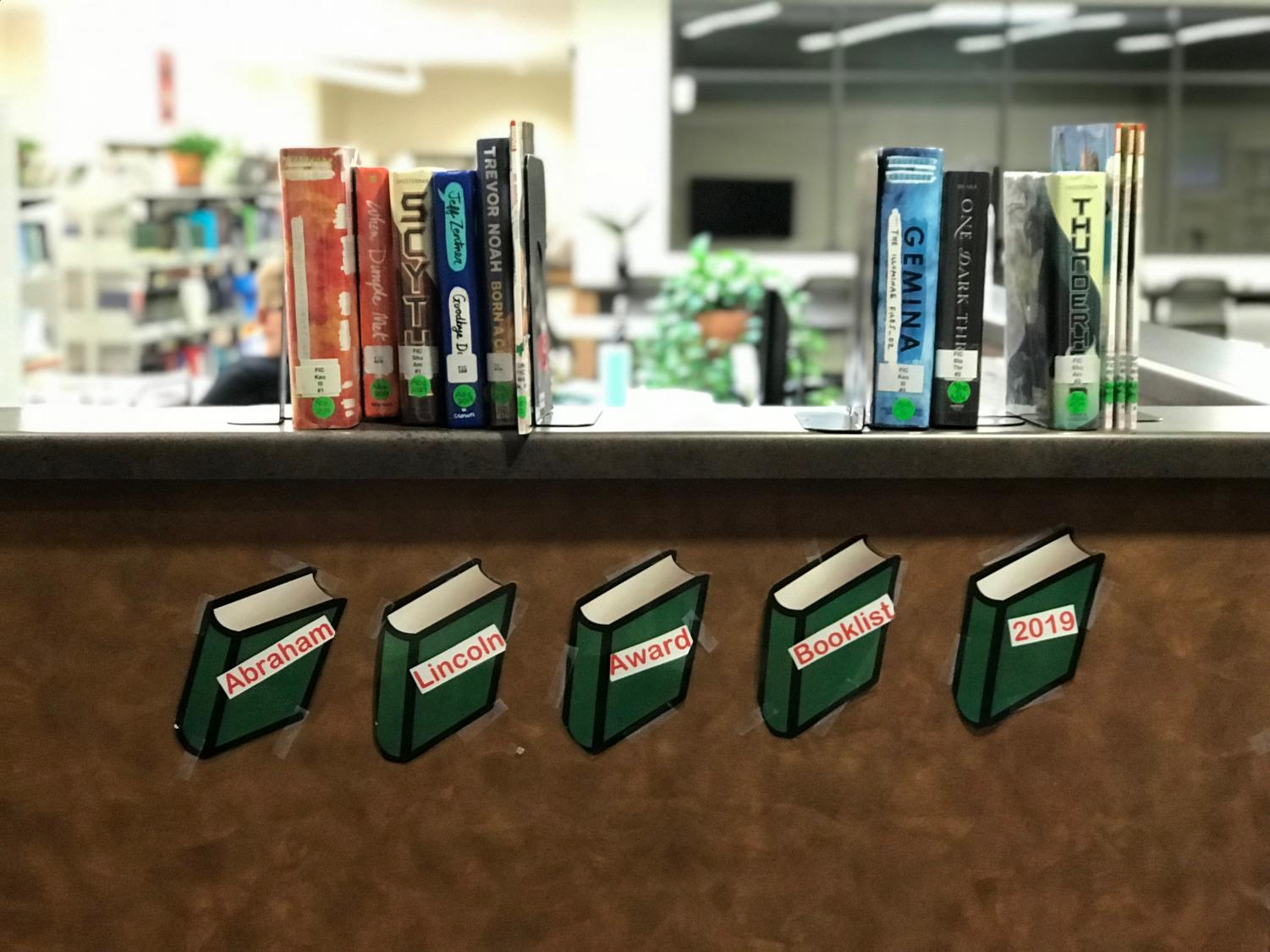 Abraham Lincoln books are available any time in the library.