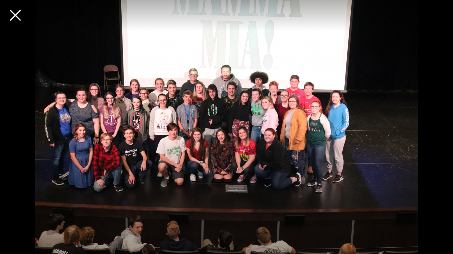 The cast and crew in their celebratory cast announcement photo.