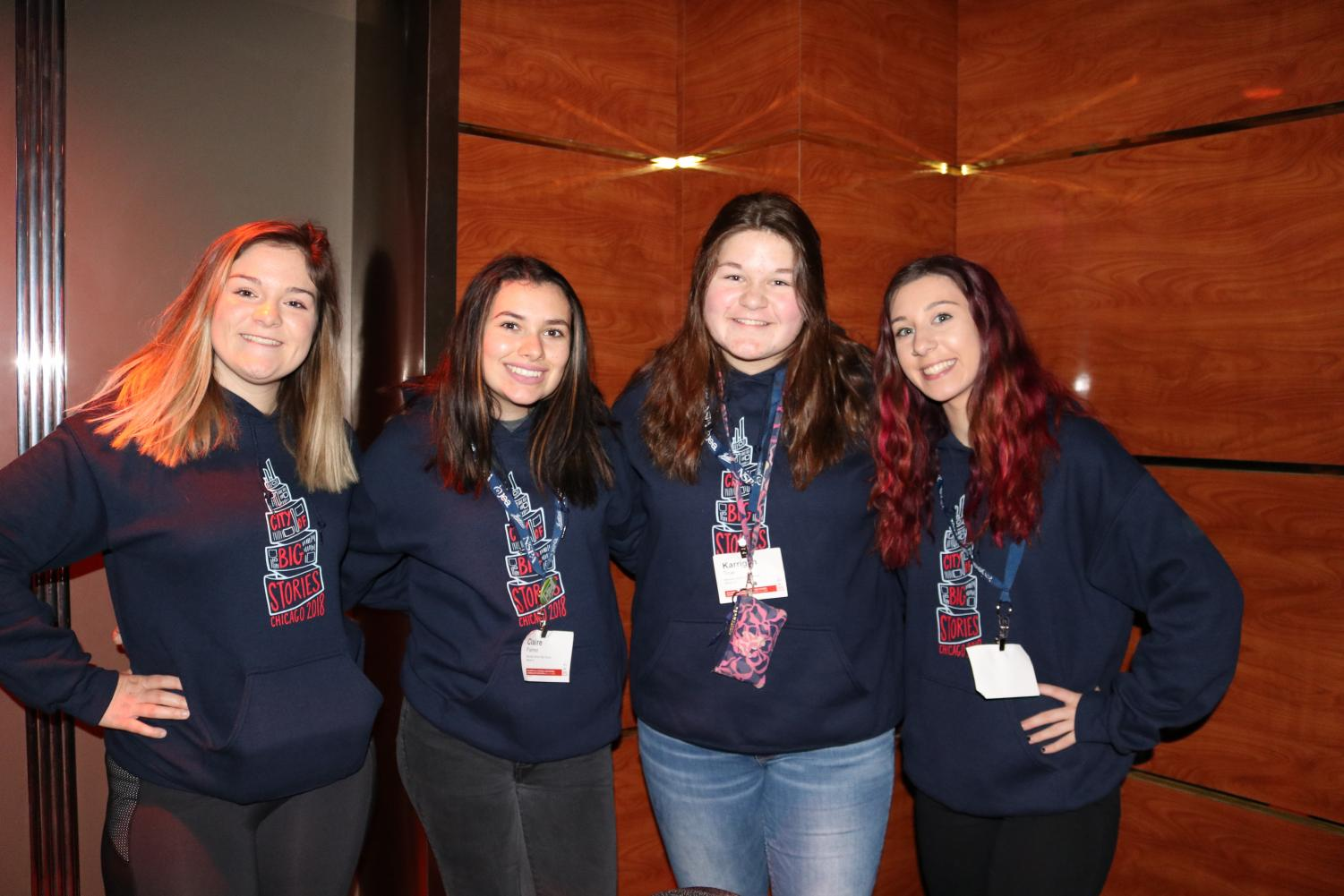 A trip to Chicago. Sydney Moore, Claire Palmer, Karrigan True, Amber Miller, and Sheila Moore go to the SNL Experience in Chicago, IL. They got the opportunity to do this while at the Journalism National Convention on Friday, November 2.