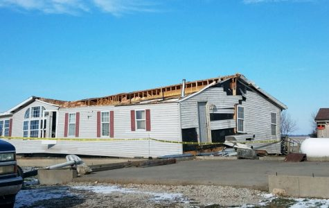 Thankful, tornado takes house, leaves daughter
