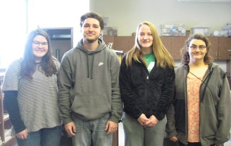 Awards were given to students after their art work was judged in competition. Karrigan True, Trent Reynolds, Jenna Jackson, and Virginia Sheumaker all received an award. True said,