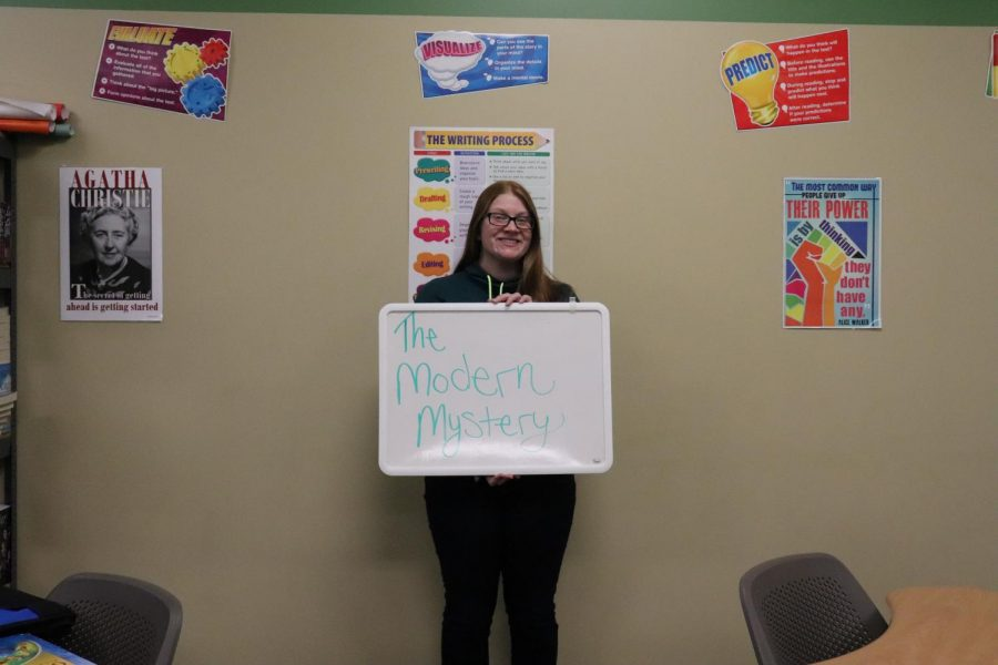Ms.+Dunmire+has+taught+modern+mystery+for+two+semesters+and+this+semester+is+the+first+time+teaching+her+new+course%2C+Modern+Mystery+2.+The+class+is+for+juniors+and+seniors.+%22I+hope+that+students+remain+interested+because+it%E2%80%99s+something+I+would+love+to+teach+for+a+long+time+to+come%2C%22+said+Dunmire.+If+she+could+choose+to+add+another+elective%2C+it+would+be+science-fiction.