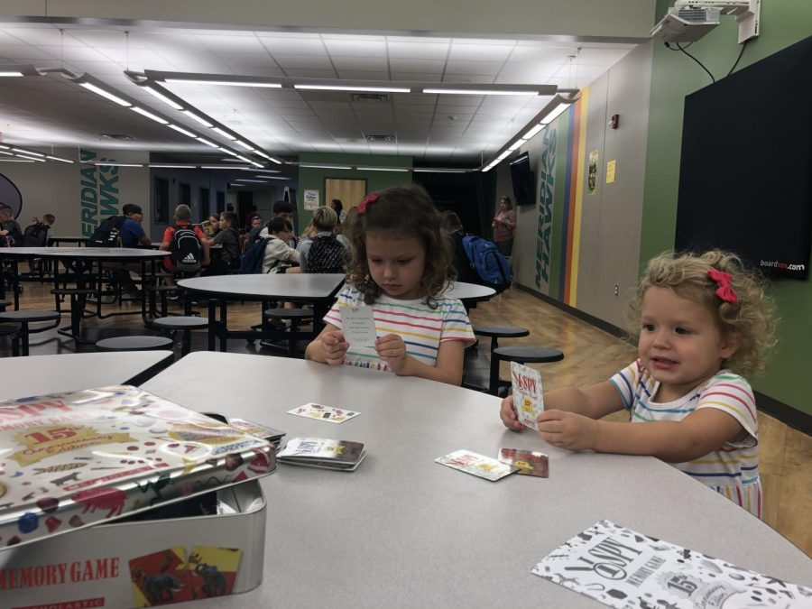 Wiley and Jolie Rhodes have fun playing I SPY at one of the events hosted by Meridian's Pre-K.