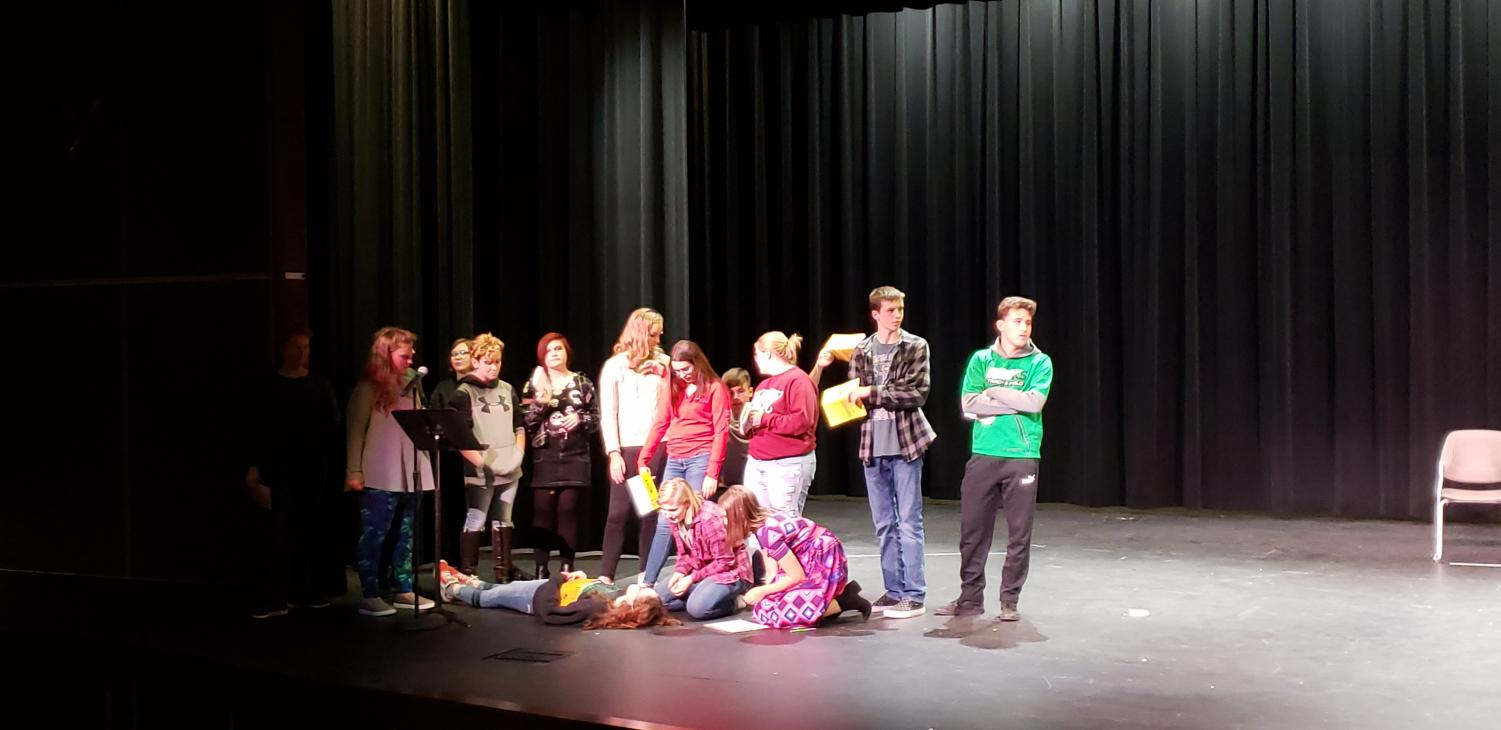 The Meridian High School drama club will put on a production of WCKY in November. There are three murders that take place in this show.