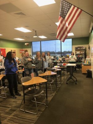 Fifth hour, Honors English 2's love affair with patriotism