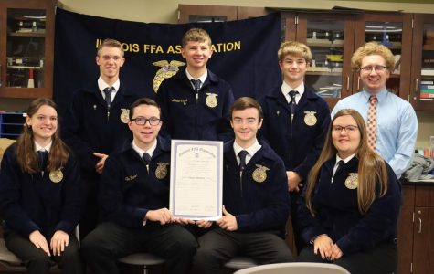 Meridian FFA Chapter signs charter