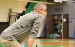 New varsity coach, Shannon Houser promotes his
