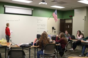 English three honors students work for change