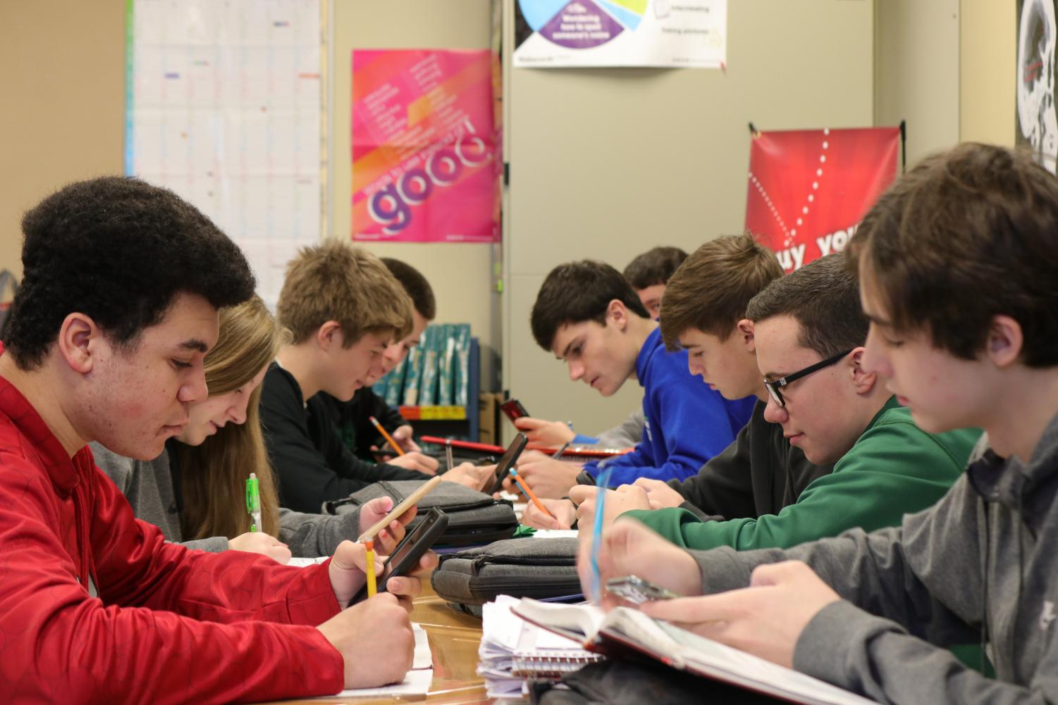 Students in Sheila Moore's courses use cell phones as an extension of their Chromebooks. Students are often asked to use both forms as they seek to become competent in multiple aspects of technology.