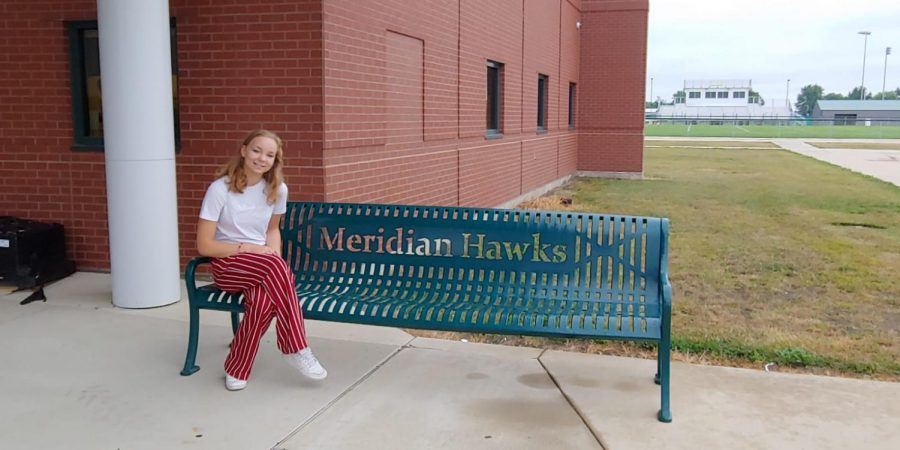 Larou de Jong (senior) on her first day as an exchange student at Meridian High School.
