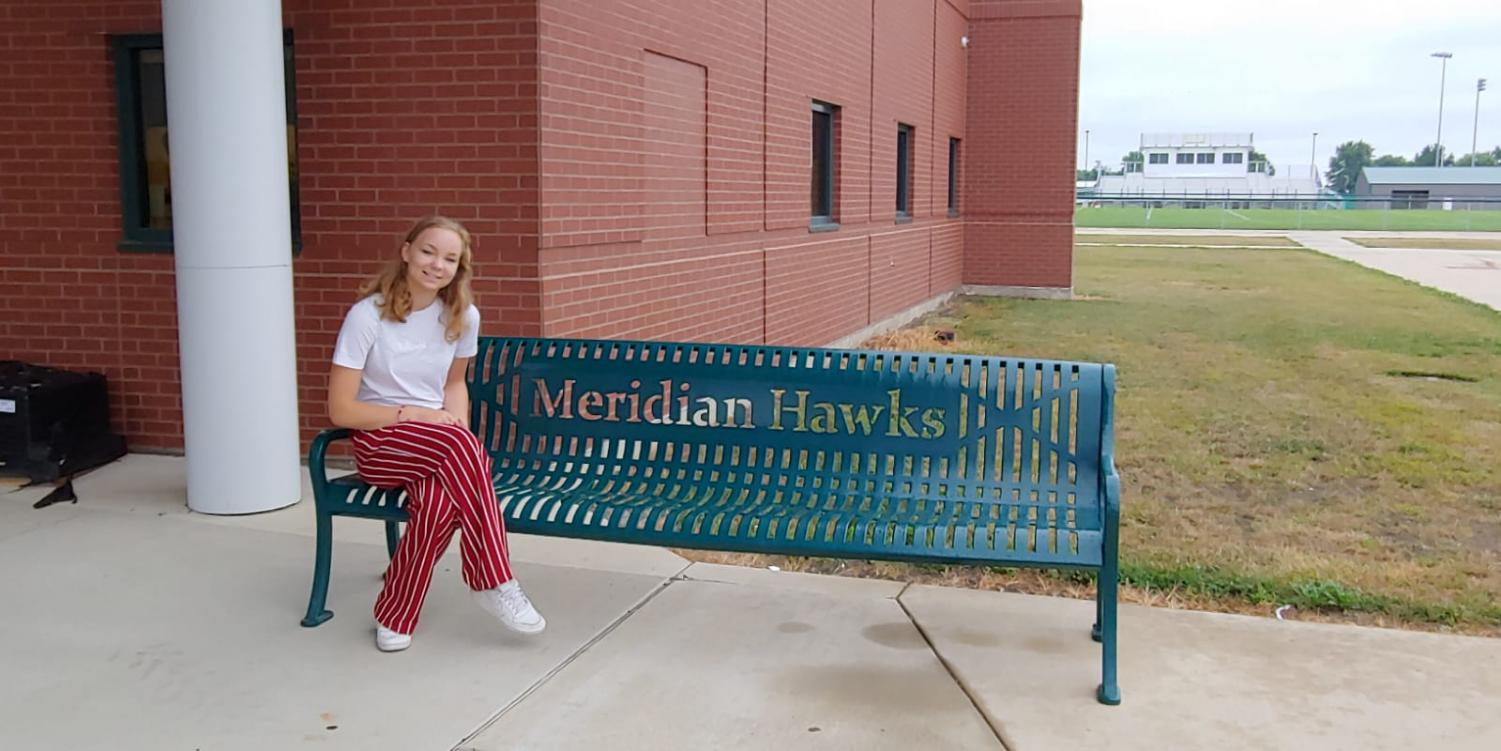 Larou+on+her+first+day+as+an+exchange+student+at+Meridian+High+School.