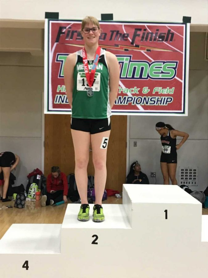 "Chloe Moyer is looking to continue her track success this season. ""This year I have trained year round and I already feel the difference,"" Moyer said. ""I am already faster than last year and I plan to continue on this track."""