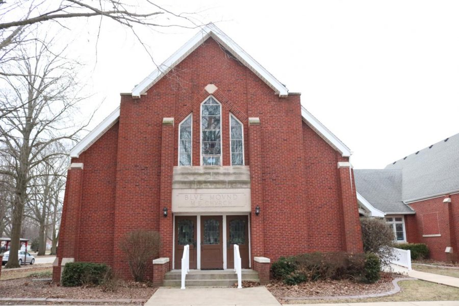 The United Methodist Church in Blue Mound has members with both progressive and traditional views on the issue of homosexuality.