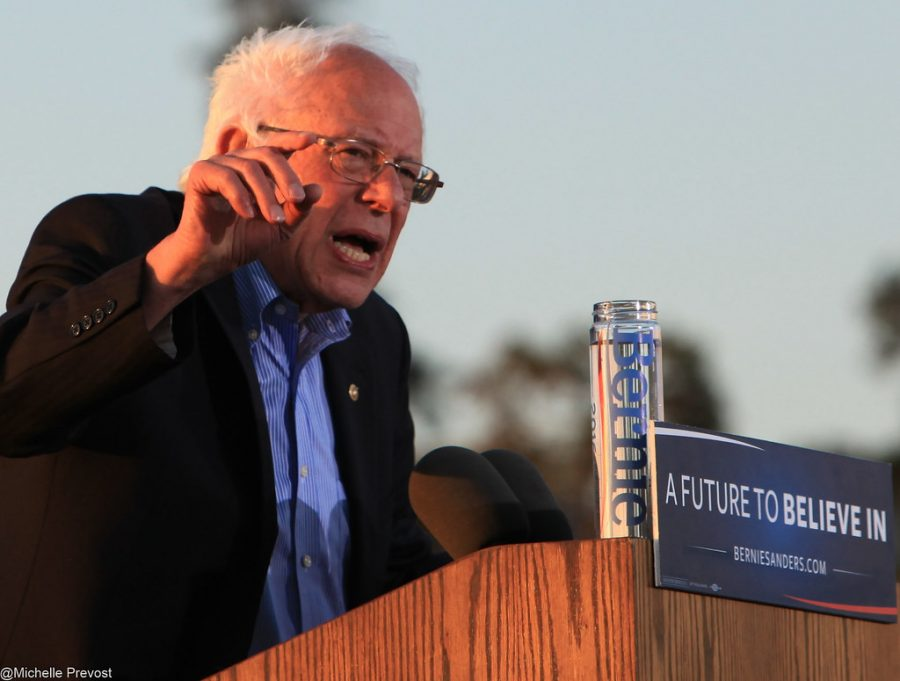 Democratic+canidate+Bernie+Sanders+giving+a+speech.+Sanders%27+performance+at+the+Feb.+19+democratic+debate+was+unimpressive+as+he+yelled+over+his+opponents+while+it+was+their+turn+to+speak.