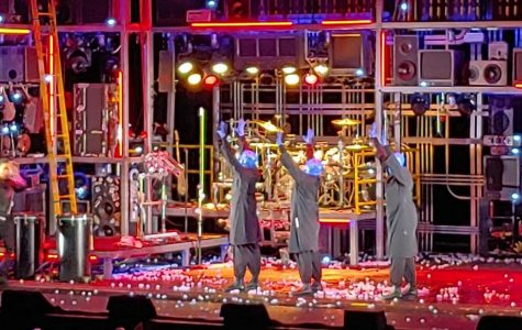 Blue Man Group performing in Springfield, Feb. 29, 2020.