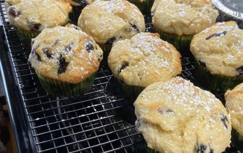A batch of Madison Sapp's blueberry muffins. Sapp found the recipe in a cookbook at her house. Sapp's favorite part of baking is eating the dough or batter.
