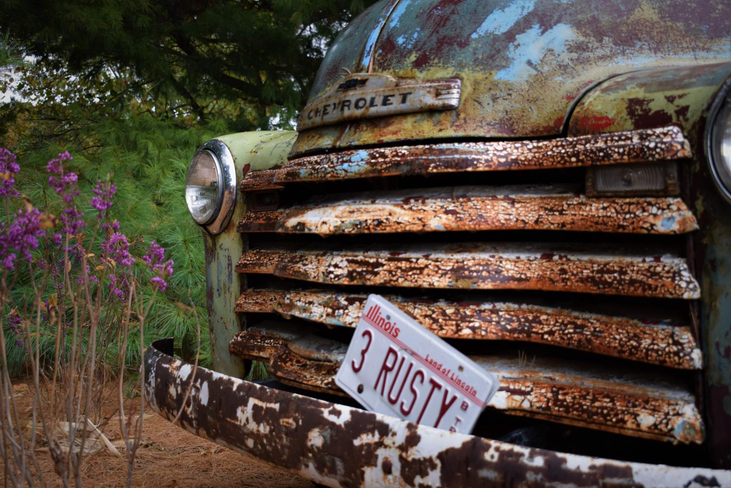 Infamous Rader Farms Chevy, commonly referred to as Rusty by employees. Located outside their shop, the truck has attracted a lot of attention.