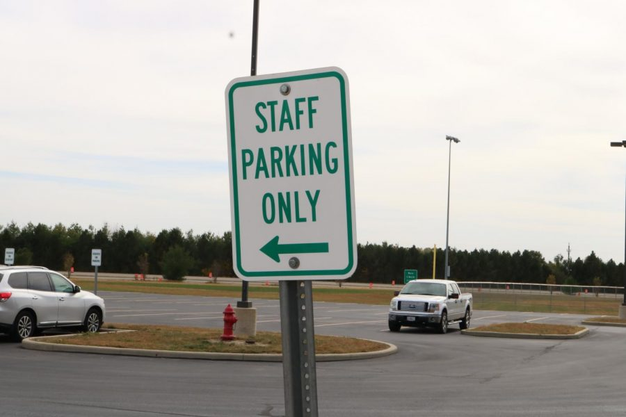 Typically the parking lot would be full of students' cars, but due to the pandemic, dismissal times were cut by an hour to reduce the risk of infection.