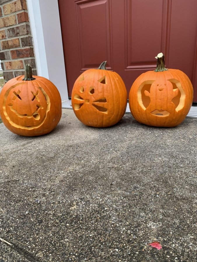 Halloween pumpkins, carved by the Fitzpatrick family.