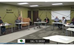 Screenshot of the November Meridian CUSD 15 school board meeting. Some students question this