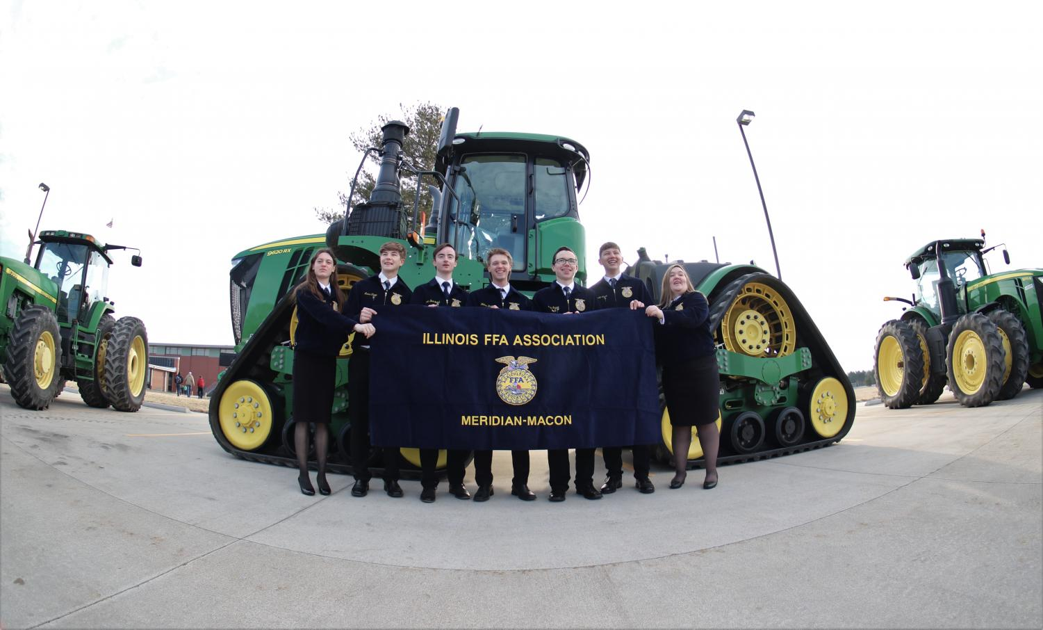 Meridian Macon FFA holds second annual National FFA week. Friday was drive your tractor to school day.
