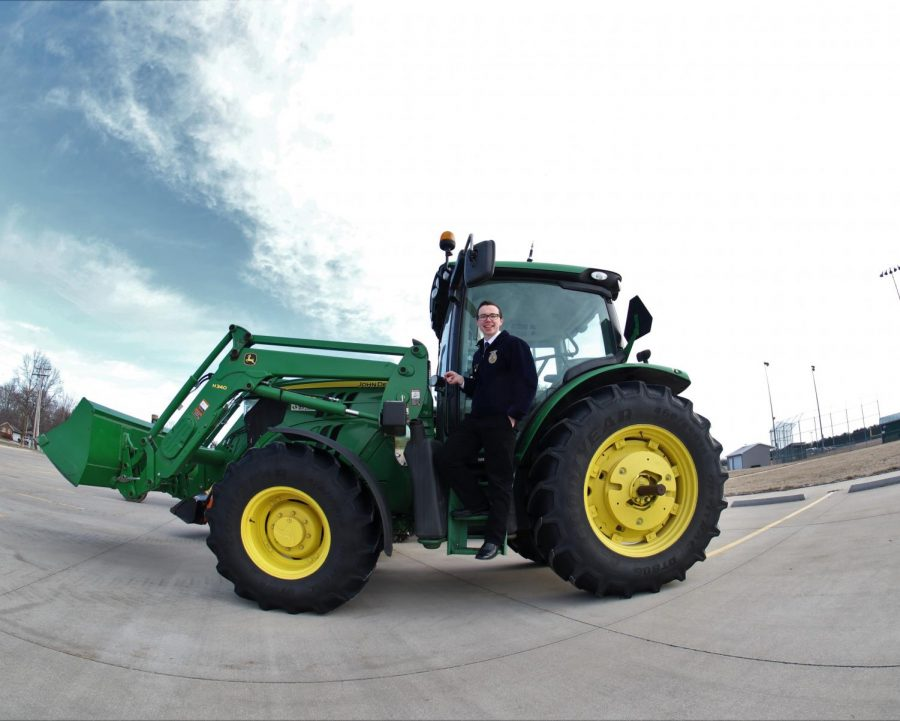 FFA drive your tractor to school day.